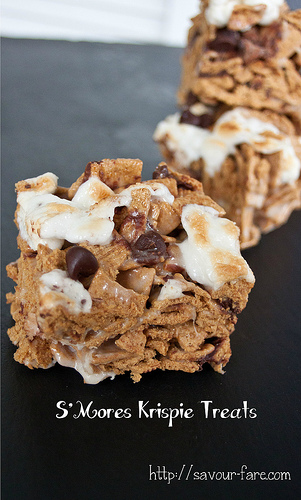 S'mores Krispie Treats by Savour Fare
