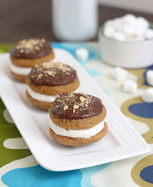 S'mores Whoopie Pies by Tracey's Culinary Adventures