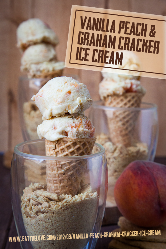 Vanilla Peach and Graham Cracker Ice Cream by Eat the Love
