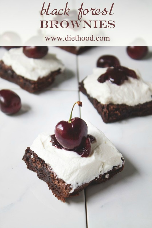 Black Forest Brownies by Diethood