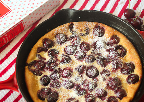 Cherry Clafoutis by The Girl in the Little Red Kitchen