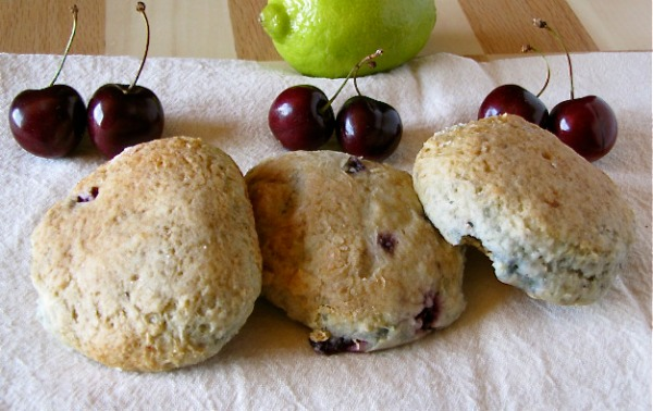 Cherry Lime Scones by Miss in the Kitchen