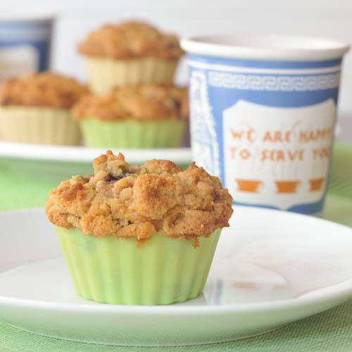 Cherry Zuccini Crumb Muffins by Spabettie