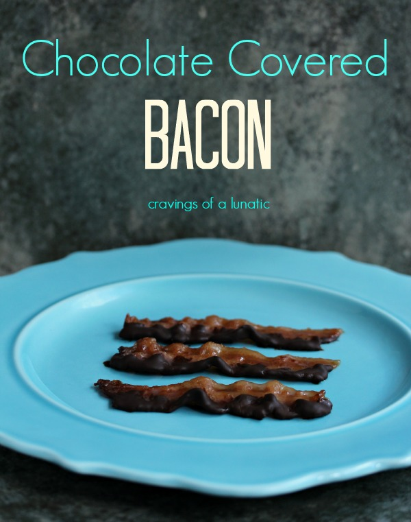 Chocolate Covered Bacon | cravingsofalunatic.com | Bacon dipped in chocolate for the ultimate treat!