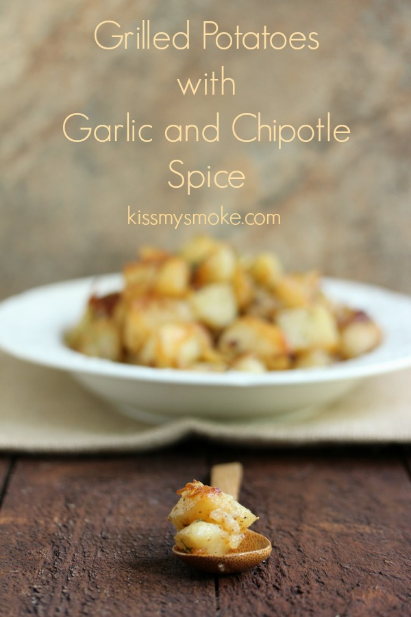 Grilled Potatoes with Garlic and Chipotle Spice | kissmysmoke.com | Perfectly spiced and cooked on the grill. These will become your new family favourite!