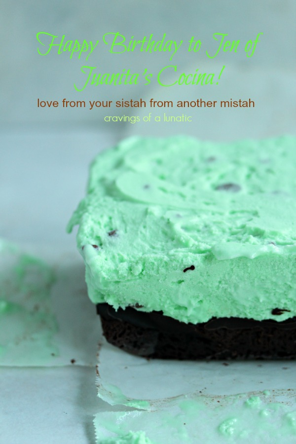 Mint Chocolate Chip Ice Cream Cake | Cravings of a Lunatic | #icecreamweek #icecream #cake