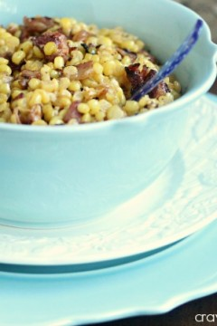 Spicy Chipotle Skillet Corn with Bacon | Cravings of a Lunatic | #corn #bacon #sides