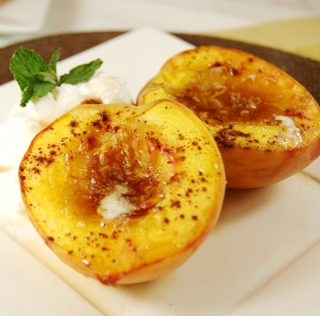 Baked Peaches by The Kitchen is my Playground