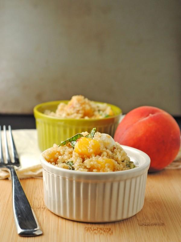 Basil, Peach & Mozzarella Quinoa by Juanita's Cocina