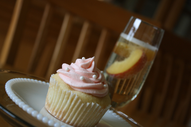 Peach Bellini Cupcakes by Java Cupcake
