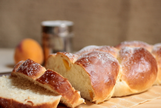 Peach Challah by Vintage Kitchen Notes