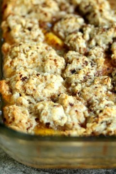 Peach Cobbler | cravingsofalunatic.com | #peach #dessert #fruit