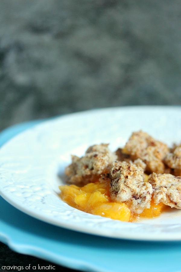 Peach Cobbler   cravingsofalunatic.com   #peach #dessert #fruit