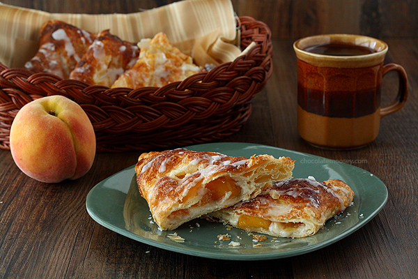 Peach Pie Cheesecake Turnovers by Chocolate Moosey
