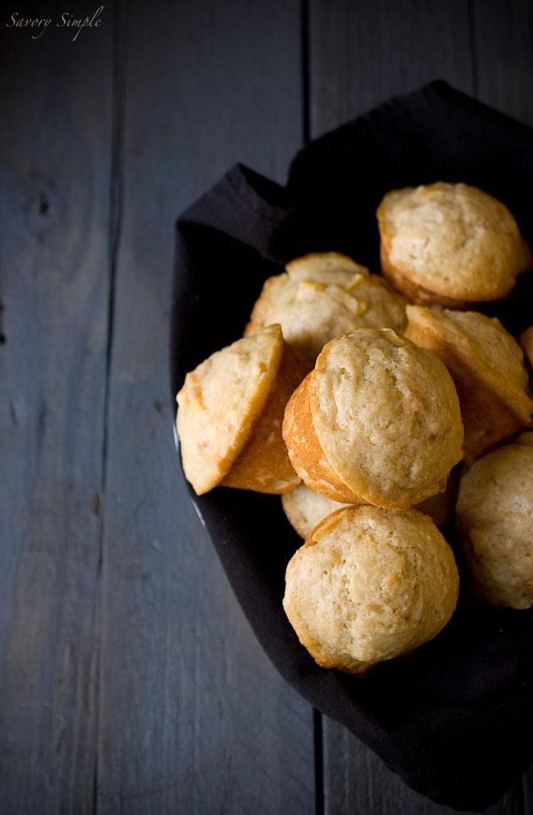 Peach Yogurt Muffins by Savory Simple