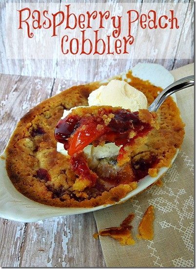 Raspberry Peach Cobbler by Miss Information
