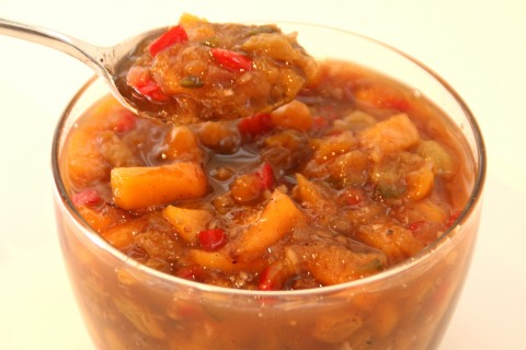 Spiced Fresh Peach Chutney by Shockingly Delicious