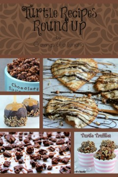 Turtle Recipes Round Up | Cravings of a Lunatic | #turtles #chocolate #caramel #pecans #recipes