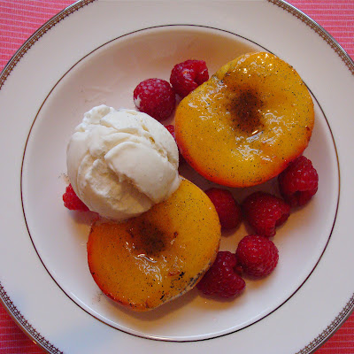 Vanilla Bean Roasted Peaches by Alida's Kitchen