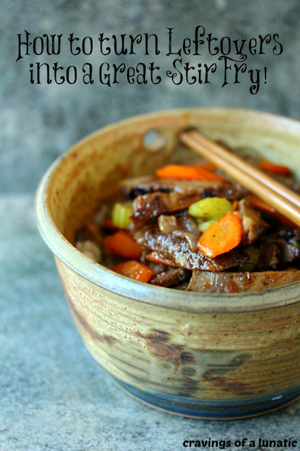 Beef Stir Fry   Cravings of a Lunatic   Super easy to make, just use leftover beef roast for a quick meal!