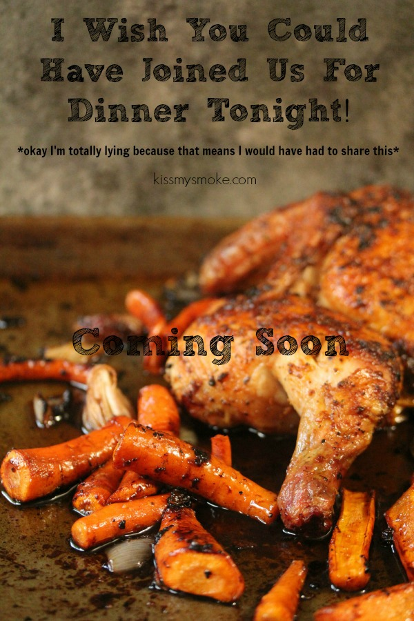 Grilled Brick Chicken by Kiss My Smoke Coming Soon