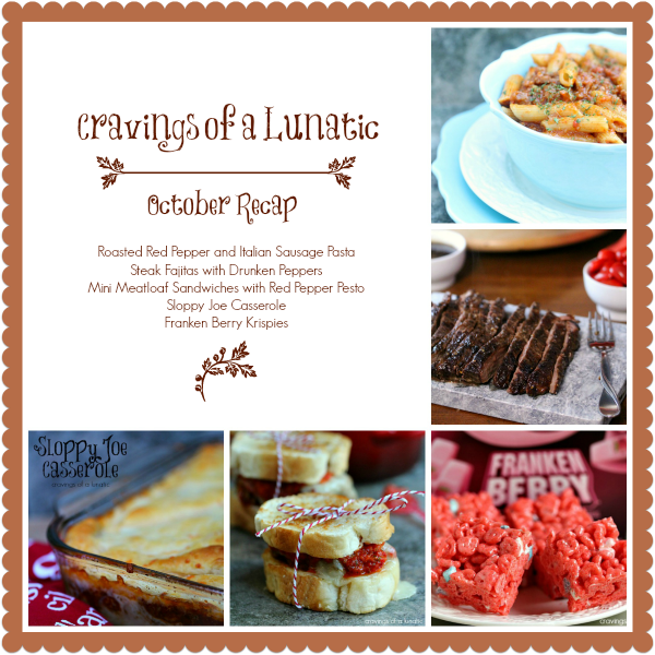 October Recap Collage for Cravings of a Lunatic