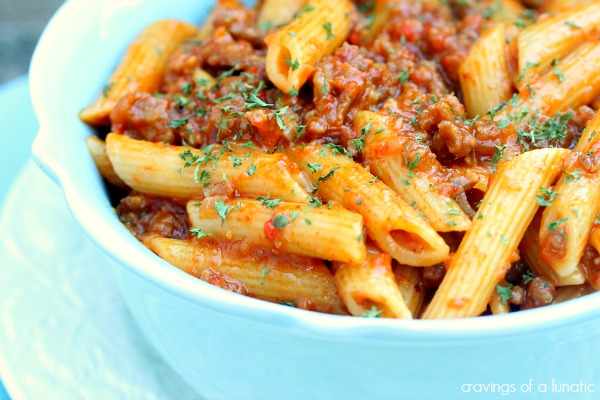 Roasted Red Pepper and Italian Sausage Pasta #PepperParty