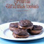 Chocolate Fudge Brownie Sandwich Cookies