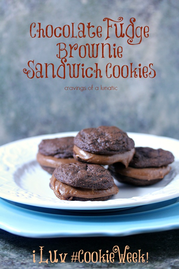 Chocolate Fudge Brownie Sandwich Cookies | Cravings of a Lunatic | Seriously scrumptious cookies that will impress your friends and put a huge smile on your face!