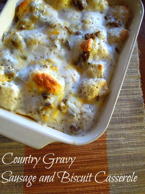 Country Gravy Breakfast Casserole by Miss Information
