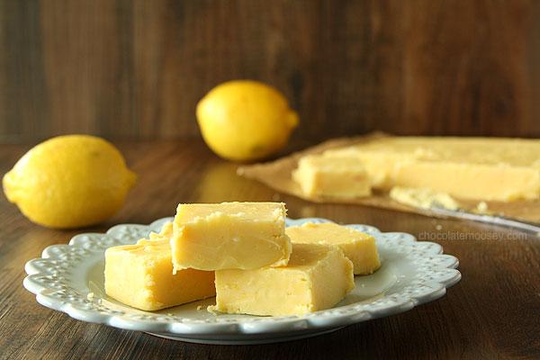Creamy Lemon Fudge by Chocolate Moosey