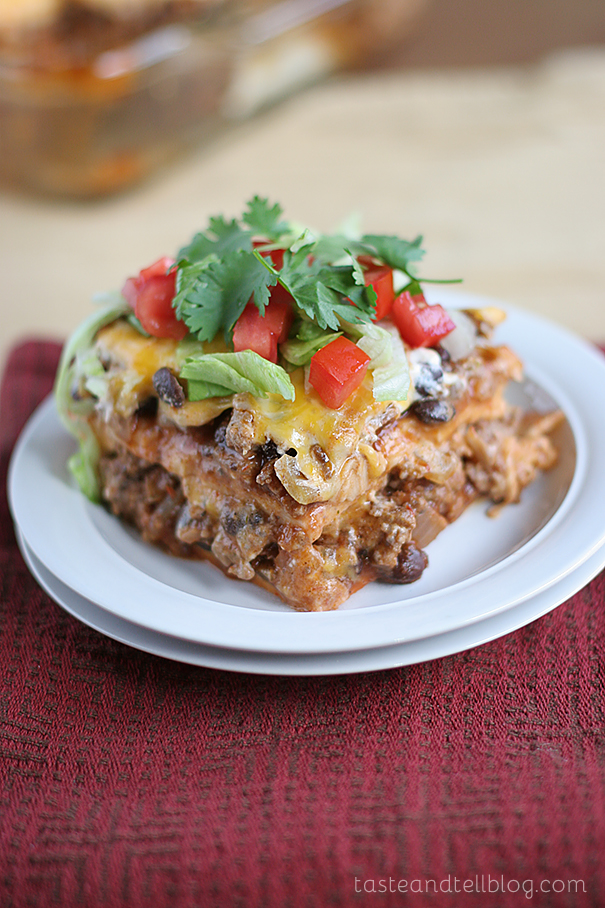 Enchilada Casserole by Taste and Tell