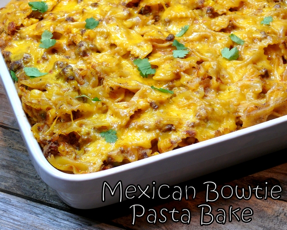 Mexican Bowtie Pasta Bake by Noble Pig