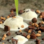 Peanut Butter Bonanza Ice Cream | Cravings of a Lunatic | Simple, no egg recipe for vanilla ice cream packed with peanut butter and chocolate!