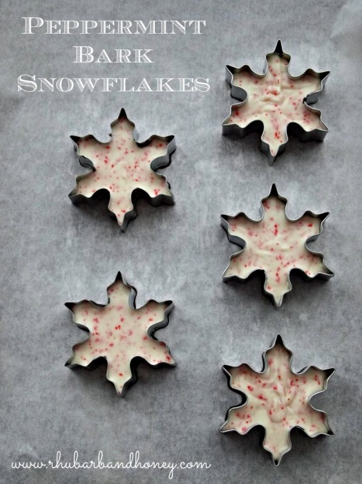 Peppermint Bark Snowflakes by Rhubarb and Honey
