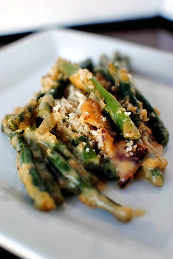 Not Your Same Old Green Bean Casserole by Pass the Sushi