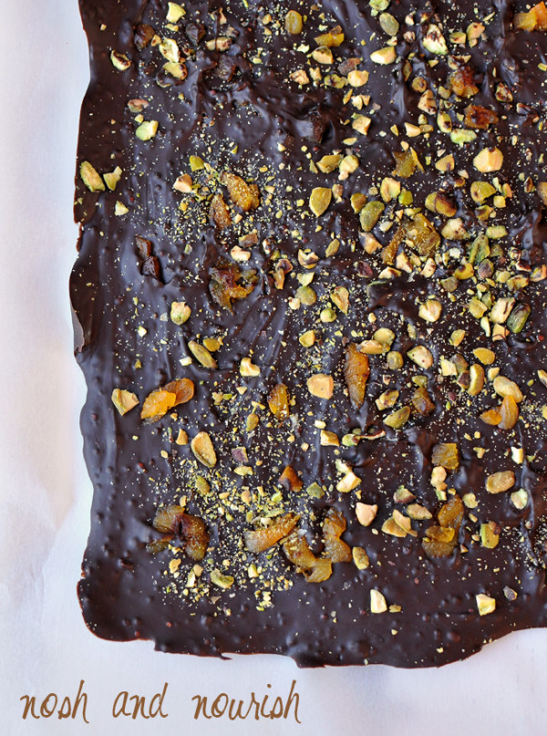 Holiday Bark with Toasted Quinoa by Nosh and Nourish