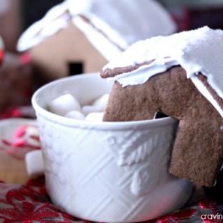 Mini Gingerbread House Hot Chocolate Mug Perches   Cravings of a Lunatic