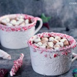 Peppermint Hot Chocolate and Peppermint Wands | Cravings of a Lunatic | This Hot Chocolate is spectacular and easy to make. Perfect for the holidays!