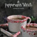 Peppermint Hot Chocolate with Peppermint Wands