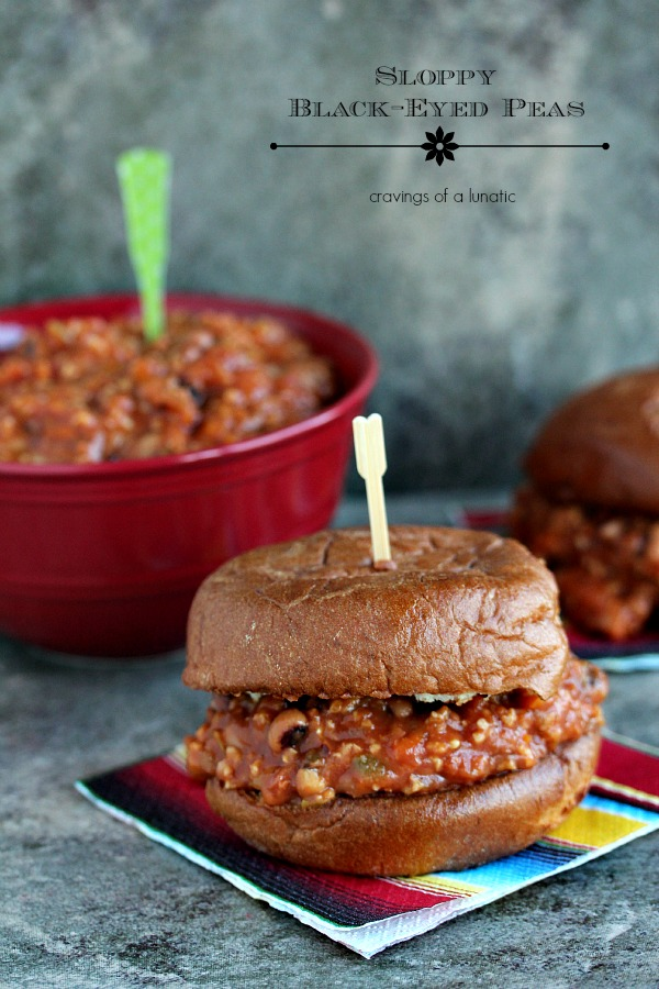 Sloppy Black Eyed Peas | Cravings of a Lunatic | This is a wonderful slow cooker recipe for Vegan Sloppy Joes. It's a real crowd pleaser!
