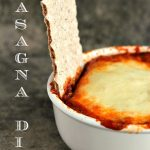 Lasagna Dip. This appetizer recipe is seriously simple to make and absolutely perfect for parties, game day or just a night in with friends.
