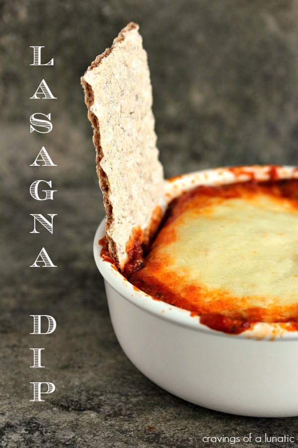 Lasagna Dip | Cravings of a Lunatic | Seriously simple to make and absolutely delicious to munch on.