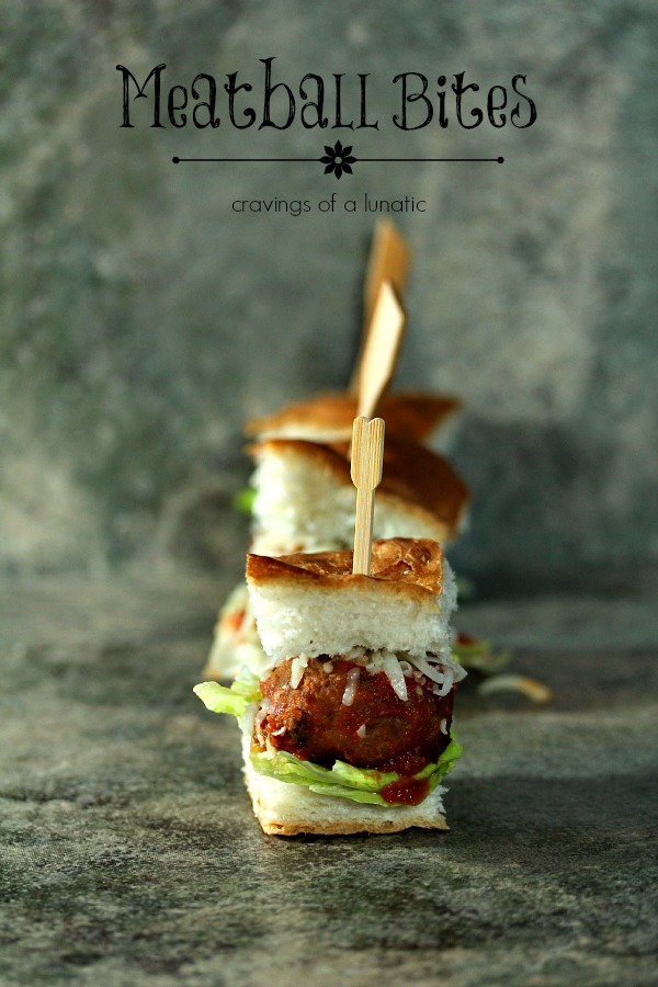 Meatball Bites | Cravings of a Lunatic | Cute little meatball slider bites would be perfect for any game day celebration. Easy to make and a real crowd pleaser.