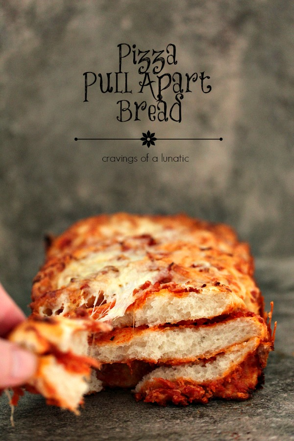 Pizza Pull Apart Bread | Cravings of a Lunatic | Easy and delicious pizza pull apart bread.
