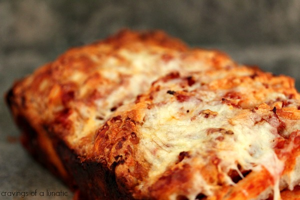 Pizza Pull Apart Bread | Cravings of a Lunatic | Easy and delicious pizza pull apart bread. Plus an amazing @OXO giveaway!