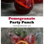 This Pomegranate Party Punch is both delicious and versatile. You can make this Spiked or Unspiked. Perfect for parties, have one of each!