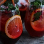 Pomegranate Party Punch | Cravings of a Lunatic | Perfect for parties, you can spike one batch and leave the other unspiked.