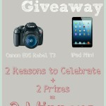 Real Housemoms Celebration Group Giveaway |Cravings of a Lunatic | Enter to win either an iPad Mini or a Canon EO3 Rebel T3