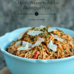 Roasted Red Pepper and Chipotle Pepper in Adobo Angel Hair Pasta